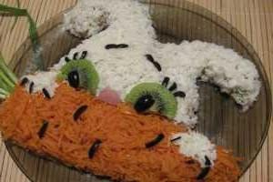 Салат Морковь для зайчика